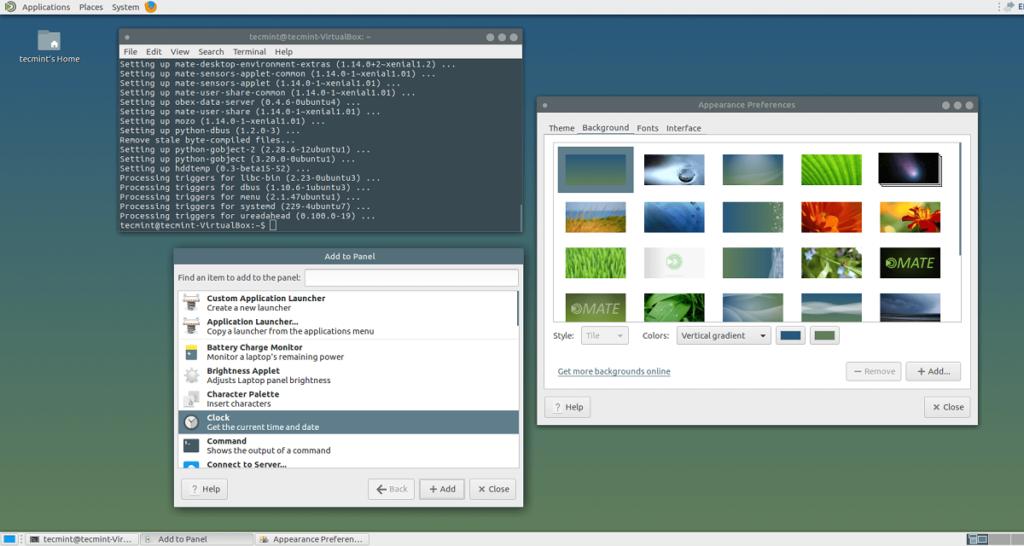 оболочки для Linux