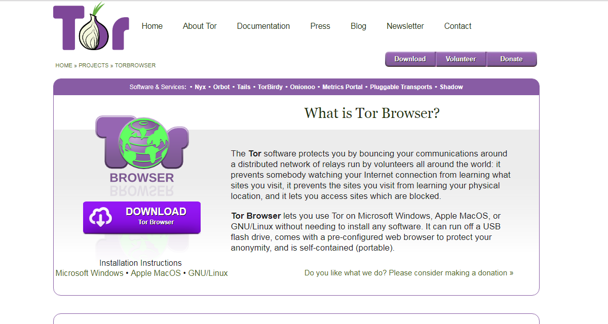 The tor project browser а tor browser bundle hyrda