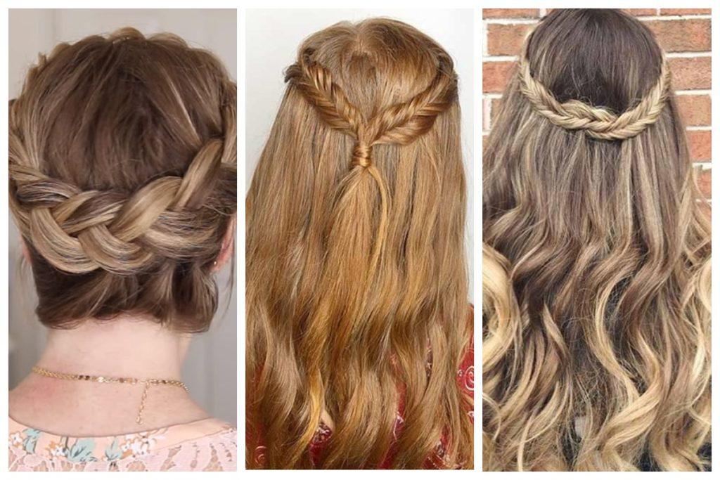 Интересные плетения для волос в виде короны