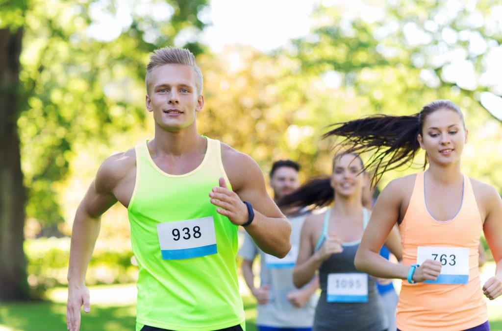 марафоны, бег